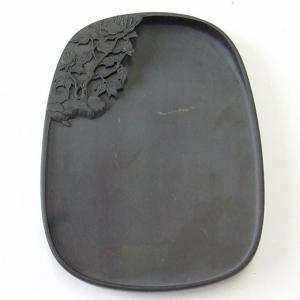 端渓 坑仔岩 彫花硯 8.4吋|kaiseidou