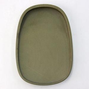 端渓 老緑端 蛋型淌池硯 5.5吋 硯石 書道用品|kaiseidou