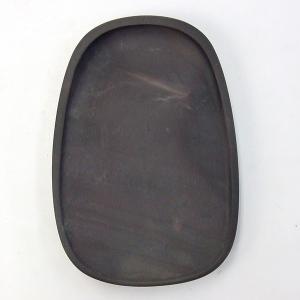 端渓 坑仔岩 蛋型淌池硯 5.7吋 『硯石 端渓硯 写経 本石 木箱 書道用品』|kaiseidou
