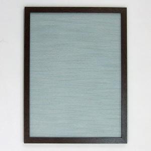 半懐紙額 ダークブラウン 水色|kaiseidou
