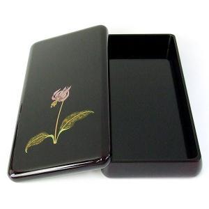 漆塗り硯箱 蒔絵 かたかご 4.0寸(横幅12.5cm)高岡漆器 『書道用品 整理箱』|kaiseidou