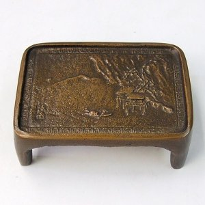 銅製 墨床 「書道用品」|kaiseidou