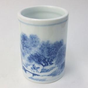 陶器の筆筒 蕪村 『書道用品 筆立て』|kaiseidou