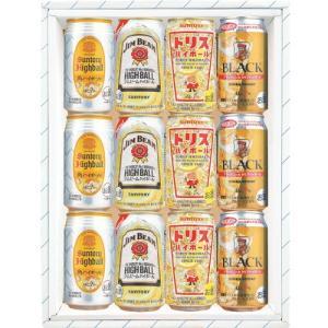送料無料 ハイボール缶飲み比べ4種ギフトセット 350ml×12缶 角 ジムビーム トリス ブラックニッカクリア kaiseiya