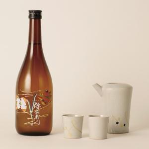 福島の日本酒と工芸品セット 大和川酒造 純米辛口 720ml 大堀相馬焼いかりや商店酒器セット|kaiseiya