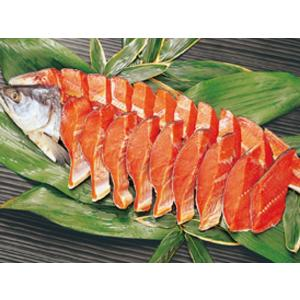 【送料無料】【産地直送】【冷凍】塩紅鮭1尾切身 1尾約2kg(16〜20切) ※ラッピング・熨斗不可、代引不可|kaiseiya