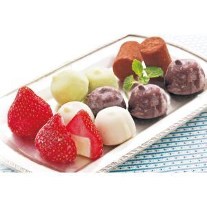 【送料無料】【産地直送】【冷凍】プチアイスバラエティセット 35粒 苺アイス、生チョコアイス、チョコアイスボール(バニラ・コーヒー・抹茶)|kaiseiya
