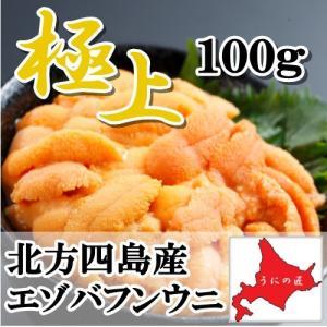 【極上】無添加 塩水生うに 100g (エゾバフンウニ)(北...