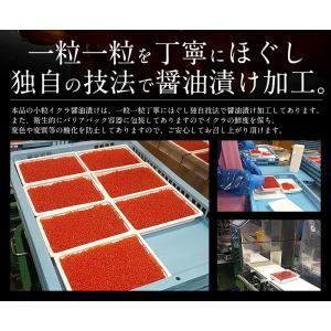 いくら 鮭 イクラ 醤油漬け 500g 小粒 北海道加工 10/19以降出荷 kaisenichibashioso 03
