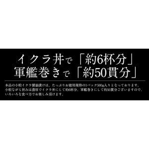 いくら 鮭 イクラ 醤油漬け 500g 小粒 北海道加工 10/19以降出荷 kaisenichibashioso 04