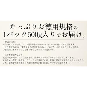 いくら 衝撃50%OFFセール! 鱒 イクラ 醤油漬け 500g 小粒 北海道加工|kaisenichibashioso|12