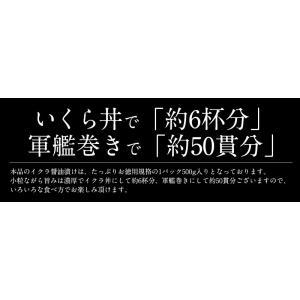 いくら 衝撃50%OFFセール! 鱒 イクラ 醤油漬け 500g 小粒 北海道加工|kaisenichibashioso|04
