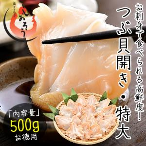 つぶ貝 ツブ貝 粒貝 つぶ貝開き 500g バイ貝 ばい貝 特大サイズ 刺身