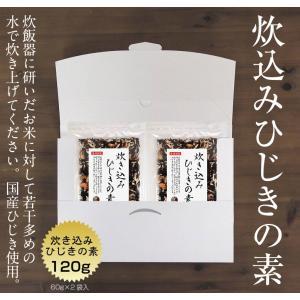 炊き込みひじきの素 120g(60g×2袋) 〜原料すべてを国内産にこだわる〜(メール便・ポスト投函 送料無料)