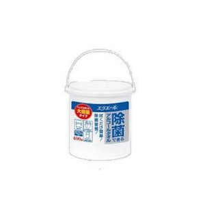 エリエール 除菌できるアルコールタオル大容量タイプ 本体 400枚×6個/ケース 大王製紙|kaiteki-club