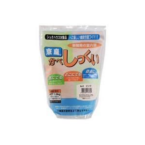 京庭かべしっくい [カラーNO.4 ピンク] 1.8kg×6袋|kaiteki-club