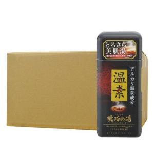 アース製薬 温素[ボトル入り] 琥珀の湯600g×16本 入浴剤|kaiteki-club