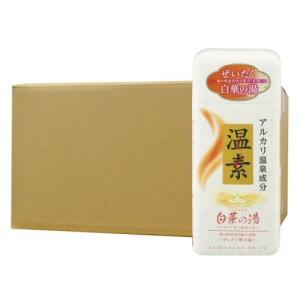 アース製薬 温素[ボトル入り] 白華の湯 600g×16本 入浴剤|kaiteki-club