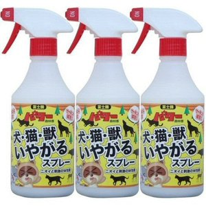 【お買い得3本セット】 犬・猫・獣いやがるスプレー 500ml×3本セット [犬・猫・小動物の忌避 天然成分配合]|kaiteki-club