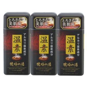 アース製薬 温素[ボトル入り] 琥珀の湯600g×3本 入浴剤|kaiteki-club