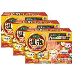温泡 ONPO とろり炭酸湯 ぜいたく果実紅茶 12錠入×3個〈4種×3錠〉 アース製薬|kaiteki-club