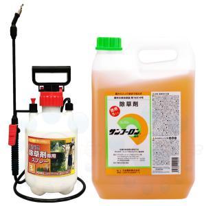 【サンフーロン液剤 5L+噴霧器セット】グリホサート kaiteki-club