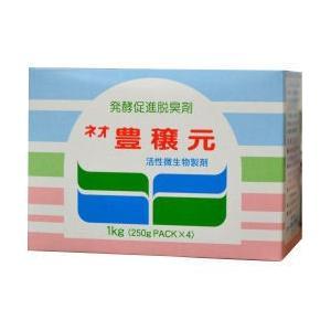 生ゴミ用発酵促進脱臭剤!生ごみ処理容器[コンポスト用] ネオ豊穣元 1kg[250g×4袋パック入]|kaiteki-club