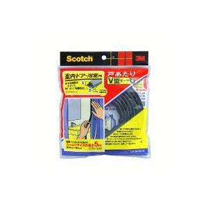 住友スリーエム スコッチ 室内ドア・浴室用戸あたりV型テープ 黒 EN-55 7.9mm×5M|kaiteki-club