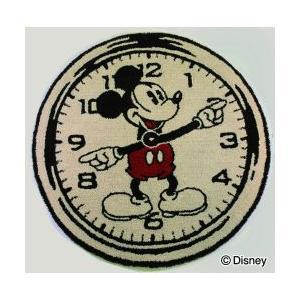 スミノエ Disney(ディズニー) MICKEY(ミッキー)/オンザクロック! ラグ 円形 [ベージュ]DRM-4000 [100×100cm] 【返品・代引不可品】|kaiteki-club