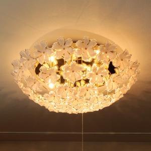 シーリングライト 5灯 お花 の シャンデリア ブルーム LED 対応 天井照明 直付け 照明器具|kaiteki-homes