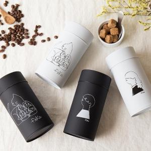 コーヒー缶 fika フィーカ キャニスター 収納 コーヒー缶 珈琲缶 茶筒 保存容器 コーヒー 紅...