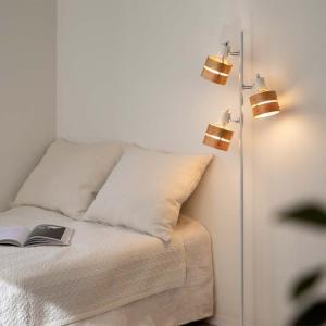 フロアスポットライト LED対応 3灯 レダフロア LEDA FLOOR おしゃれ 間接照明 フロアライト|kaiteki-homes