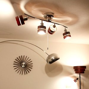 シーリングライト LED対応 照明 リモコン スポットライト 照明器具 おしゃれ 北欧 北欧風 ミッドセンチュリー インテリア|kaiteki-homes
