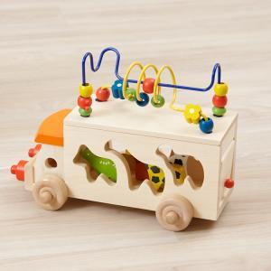 アニマルビーズバス エドインター 木のおもちゃ 木製 知育玩具 出産祝い お祝い プレゼント ベビー