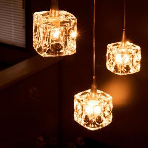 ペンダントライト GLASS CUBE 3 (ガラスキューブ3灯) ガラス おしゃれ 北欧 ミッドセンチュリー カフェ|kaiteki-homes|02