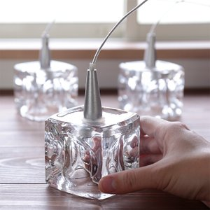 ペンダントライト GLASS CUBE 3 (ガラスキューブ3灯) ガラス おしゃれ 北欧 ミッドセンチュリー カフェ|kaiteki-homes|03