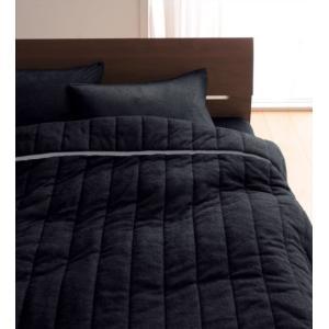 タオル地 タオルケット と 敷きパッド一体型ボックスシーツ のセット シングル 色-サイレントブラッ...