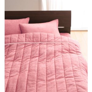 タオル地 タオルケット と 敷きパッド一体型ボックスシーツ のセット ダブル 色-ローズピンク /綿...
