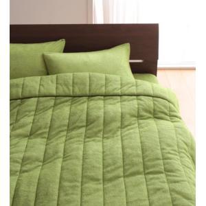 タオル地 タオルケット と 敷きパッド一体型ボックスシーツ のセット ダブル 色-モスグリーン /綿...