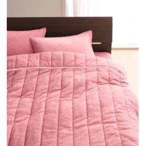 タオル地 タオルケット と 敷きパッド一体型ボックスシーツ のセット クイーン 色-ローズピンク /...