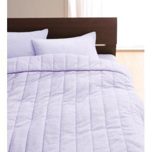タオル地 タオルケット と ベッド用ボックスシーツ のセット シングル 色-ラベンダー /綿100%...