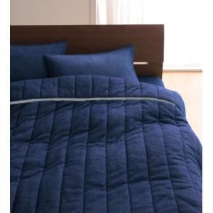 タオル地 タオルケット と ベッド用ボックスシーツ のセット セミダブル 色-ミッドナイトブルー /...