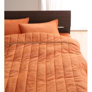 タオル地 タオルケット と ベッド用ボックスシーツ のセット セミダブル 色-サニーオレンジ /綿1...