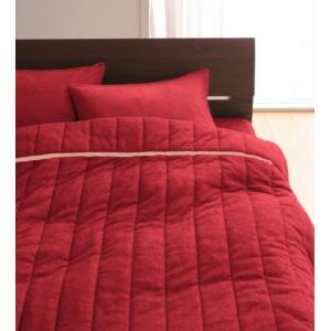 タオル地 タオルケット と ベッド用ボックスシーツ のセット セミダブル 色-マーズレッド /綿10...