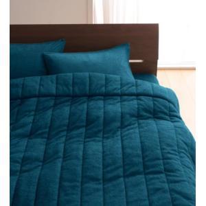タオル地 タオルケット と ベッド用ボックスシーツ のセット ダブル 色-ブルーグリーン /綿100...