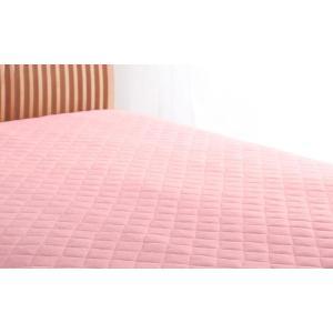 マイクロファイバー 敷きパッド の単品(敷布団用 マットレス用) ワイドキング 色-フレッシュピンク