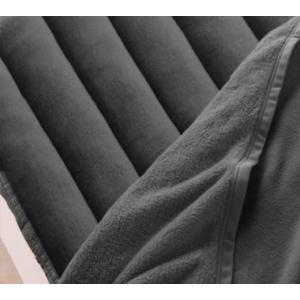 マイクロファイバー 厚い 敷きパッド の単品(敷布団用 マットレス用) クイーン 色-チャコールグレ...