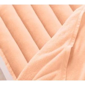 マイクロファイバー 厚い 敷きパッド の単品(敷布団用 マットレス用) ワイドキング 色-コーラルピ...