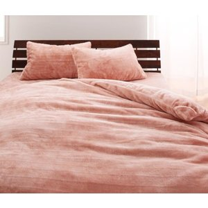マイクロファイバー プレミアム 掛け布団カバー の単品 クイーン 色-ローズピンク