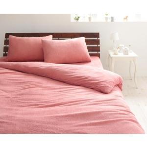 タオル地 掛け布団カバー の単品 セミダブル 色-ローズピンク /綿100%パイル